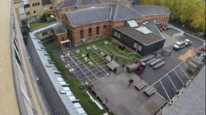 In zes dagen tijd kwam er een nieuwe noodunit aan het ziekenhuis CHR Verviers East.