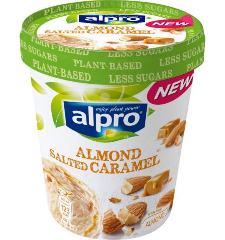 Het nieuwe eten: Alpro Amandel Zeezout Karamel Beeld Alpro