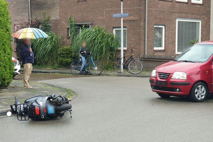 De scooter raakte total loss.