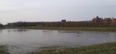 In de Haverleij in Engelen is ijsbaantje in de maak: 'Maar nog even geduld'