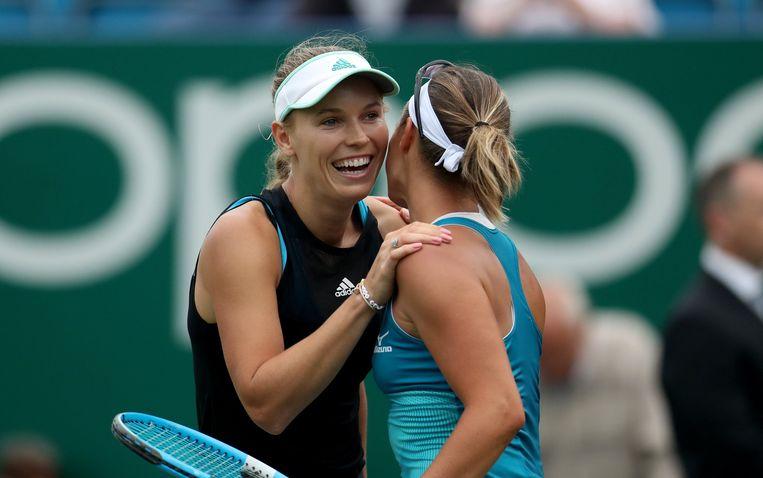 Wozniacki en Flipkens.