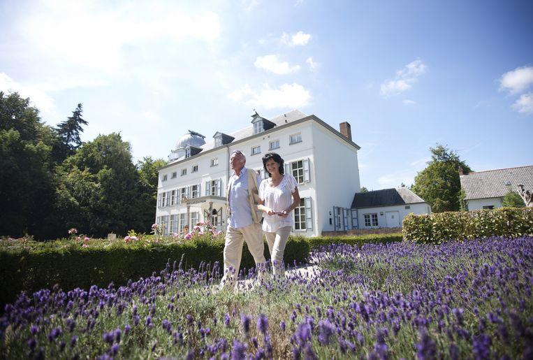Het park rond het statige kasteel van Beisbroeck zorgt voor een prachtig jogdecor.