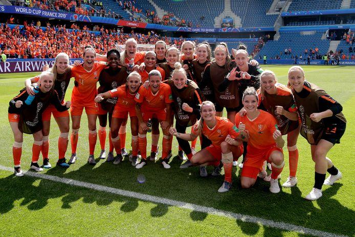 De Oranje-selectie viert feest.