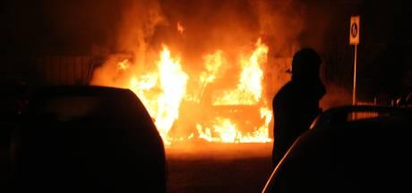 Brand verwoest auto en bestelbus in Tiel