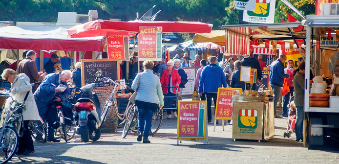 Archieffoto van de weekmarkt in Oss.