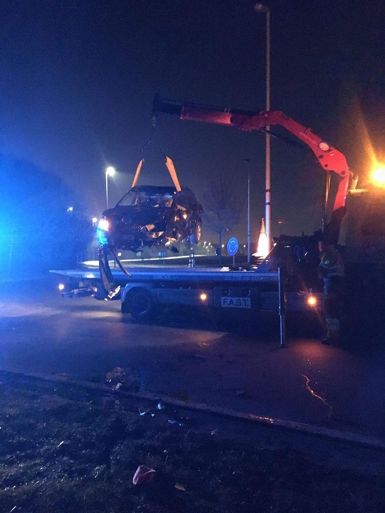 De wagen van Liesa was na het ongeval rijp voor de schroothoop.