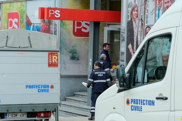 poederbrief bij hoofdkwartier van de PS in Brussel