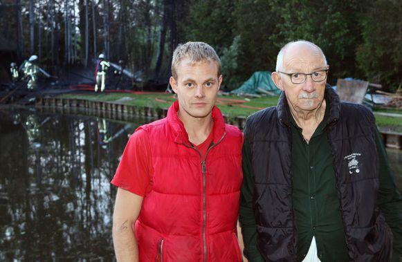 Glenn en Karel Ennekens, eigenaars van de chalet.