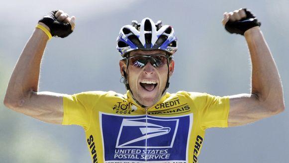 De gevallen tourheld Lance Armstrong.