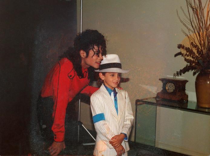 Michael Jackson en een jonge Wade Robson.