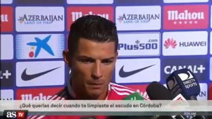"""Cristiano heeft het helemaal gehad met """"domme"""" reporter"""