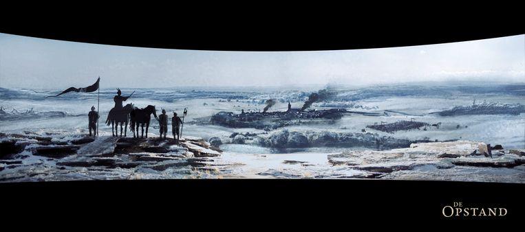 Een scène uit De Opstand. Beeld