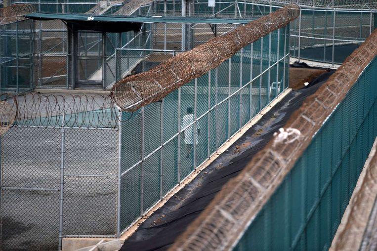Een gevangene in de gevangenis van Guantánamo Bay