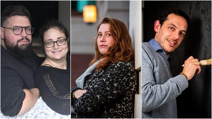 Byron Caron (28) en Samantha Battistini (27) uit Houthalen, Marjolein Sennes (31) uit Antwerpen en Bart Armirotto (39) uit Schoten.