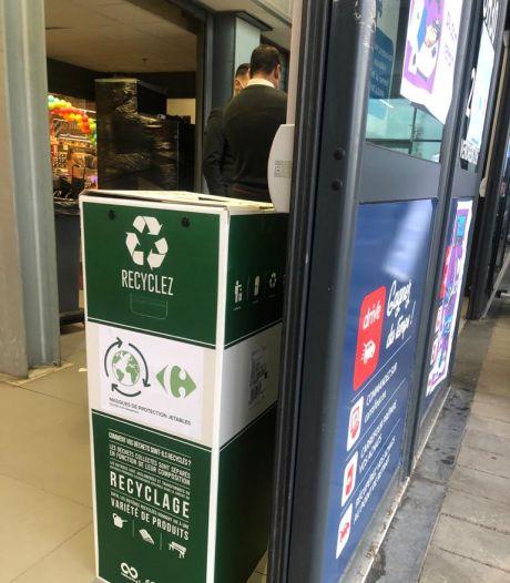 Carrefour va recycler les masques buccaux usagés