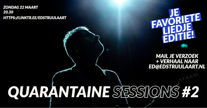Aankondiging van Quarantaine Sessions #2 van Ed Struijlaart
