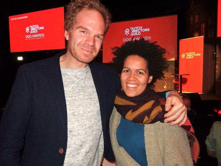 Tom Fassaert won met zijn documentaire A family affair. Naast hem zijn partner Thabi Mooi. Beeld -