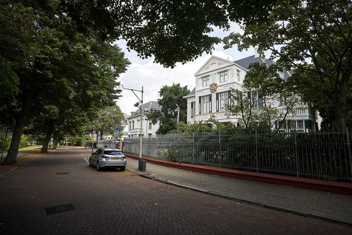 Exterieur van de Russische ambassade in Den Haag