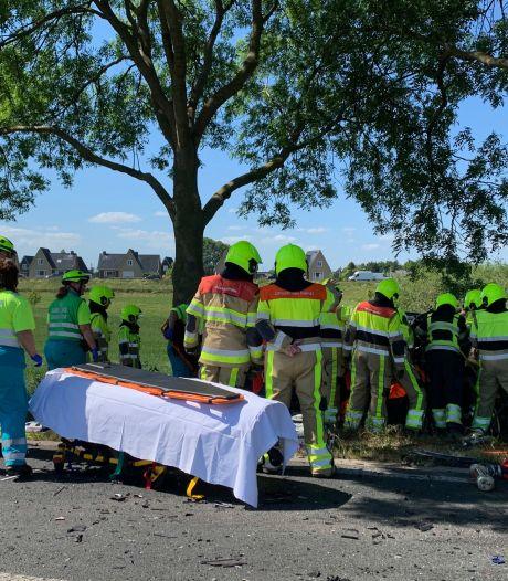 Vrouw (66) uit Boven-Leeuwen overleden na frontale botsing tussen auto en vrachtwagen in Rossum, man zwaargewond