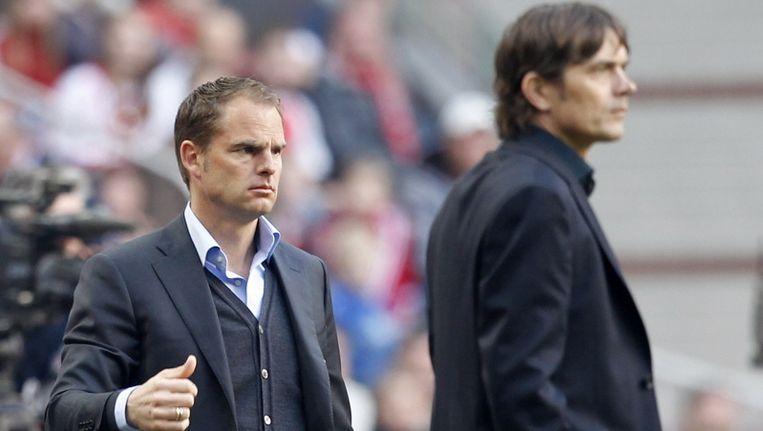 Frank de Boer en Phillip Cocu. Beeld pro shots