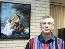 Jan Olthof uit Vriezenveen 'kruipt' het liefst in zijn schilderijen