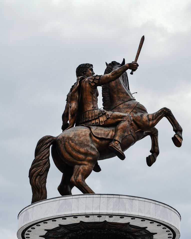 Het gewraakte Alexander-beeld in Skopje Beeld Getty Images/iStockphoto