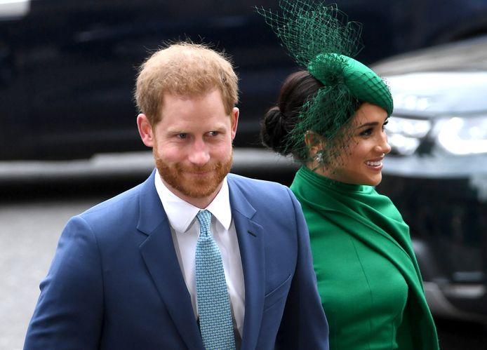 Prins Harry en zijn vrouw Meghan kwamen maandag voor het laatst in actie als 'senior royals'. De hertog en hertogin van Sussex, die vanaf 1 april een stap terug doen binnen de Britse koninklijke familie, woonden in Westminster Abbey een dienst bij ter gelegenheid van Commonwealth Day.