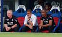 Teleurstelling bij Palace-coach Frank de Boer (midden).