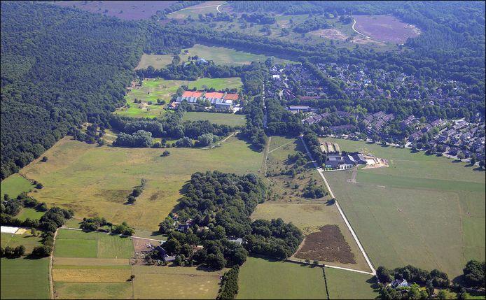 Het Lierdal tussen Malden en Molenhoek (rechts) blijft groen.