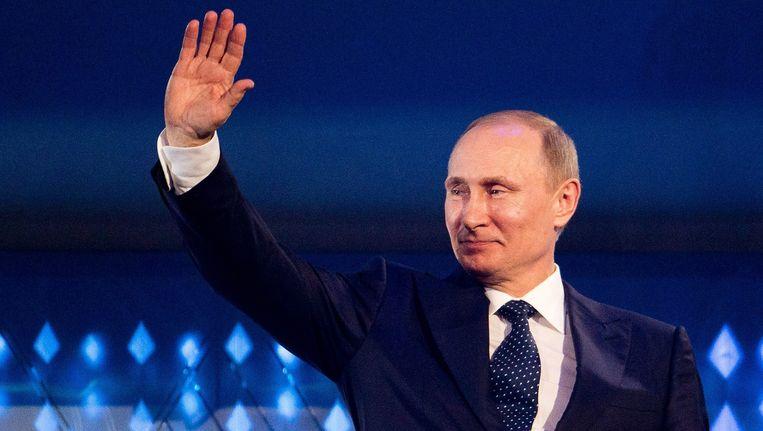 Het overgrote deel van de Russen juicht hun leider toe. Beeld epa
