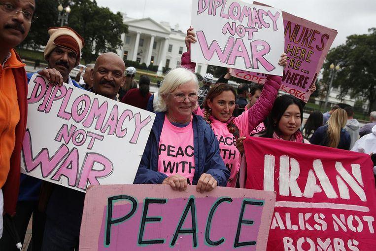 Demonstranten donderdag bij het Witte Huis. Beeld getty