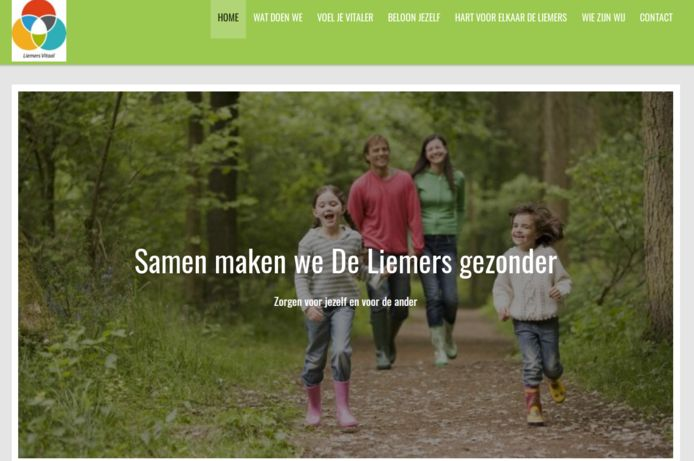 Screenshot van de website van Liemers Vitaal.