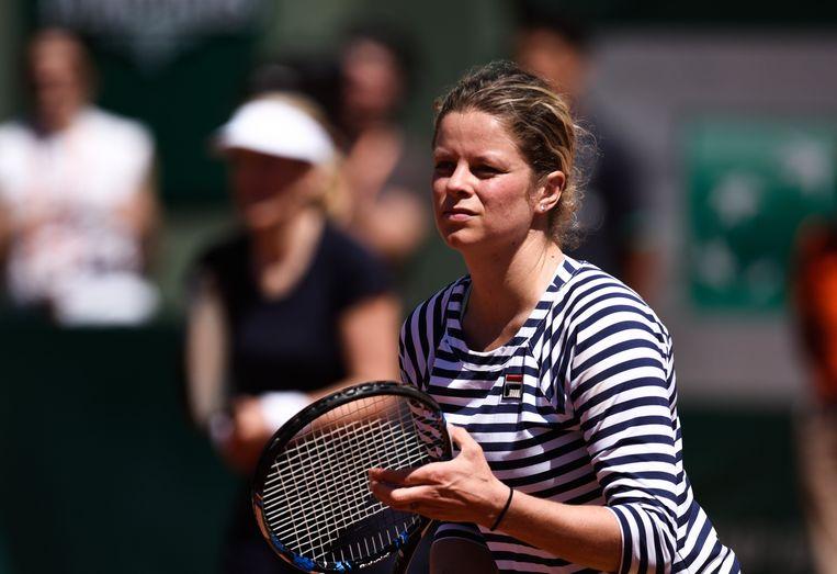 Kim Clijsters op Roland Garros, 10 juni 2017