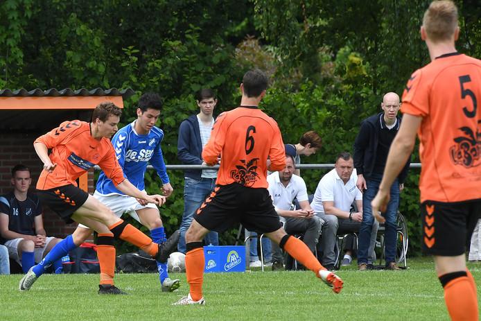 Archiefbeeld van Excellent (oranje-zwart), vorig seizoen tegen Mierlo Hout.