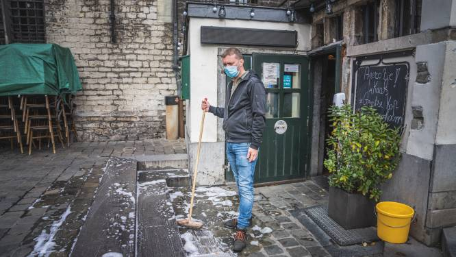 Verboden drinkgelag van studentenvereniging loopt uit de hand: drie kwartier braken en plassen op terras van café 't Galgenhuisje