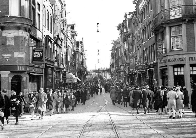 Utrechtsestraat in 1929. Beeld Stadsarchief