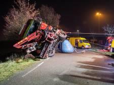 Berger trekt vrachtwagen in Vianen recht