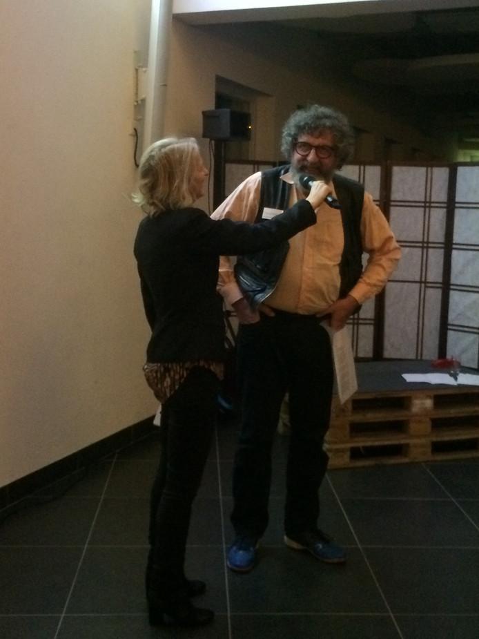 Karin Giphart met schrijver Jace van de Ven