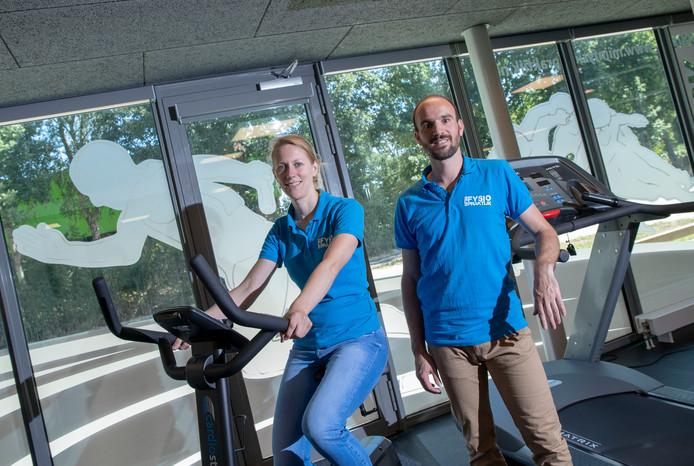 Annita van Doorn en Maarten Heisen in hun tweede fysiopraktijk.