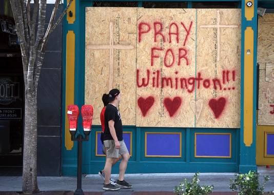 Inwoners van Wilmington in North Carolina maken zich op voor de komst van Florence