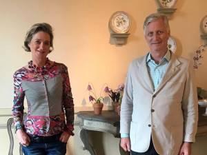 Moment historique: le roi Philippe et Delphine de Saxe-Cobourg se rencontrent pour la première fois