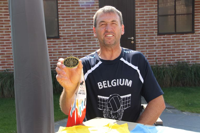 Dirk De Baene met zijn bronzen medaille van op de World Games for Police and Fire.