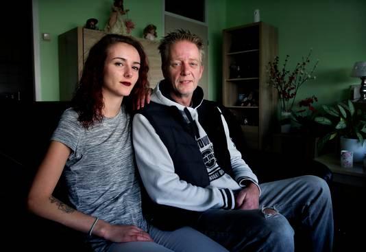 Rochelle met haar vader Martin Huisman.