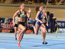 Goud B-junior Sven Roosen (Eindhoven Atletiek) op 400 meter NK indoor