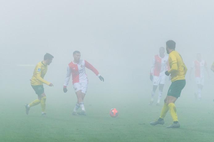 Orkun Kükcu tijdens de gestaakte wedstrijd Fortuna Sittard - Feyenoord.