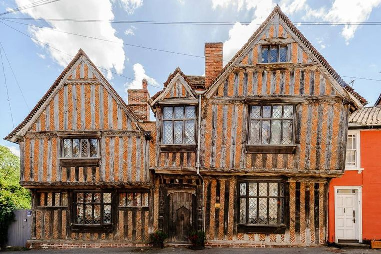 De Vere House in Lavenham, ook wel het huis waar Harry Potter opgroeide in Goderics Eind.