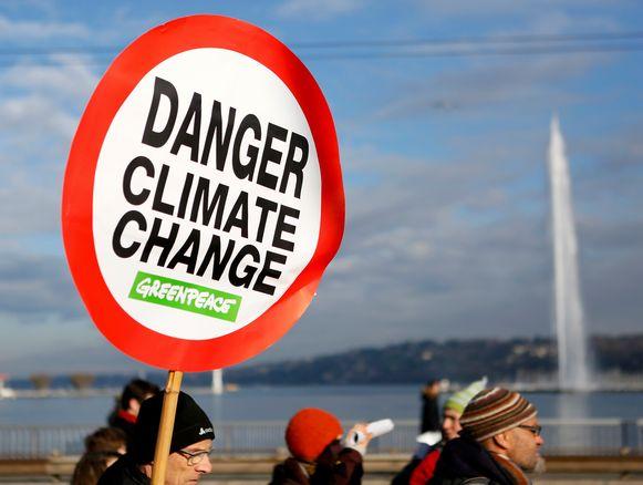 Protest aan de vooravond van de COP21-top.