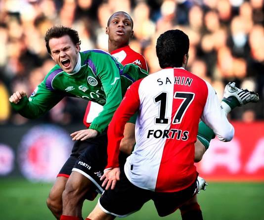 Nevland in duel met Feyenoord