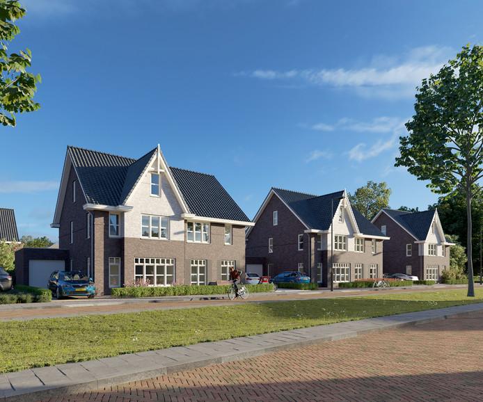 Impressie van de nieuwe woningen in de Bornsche Maten.
