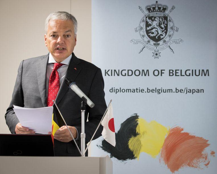 Minister van Buitenlandse Zaken Didier Reynders (MR) is op bezoek in Japan.